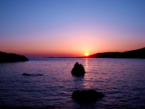 Beautiful sunset on Island of Hvar