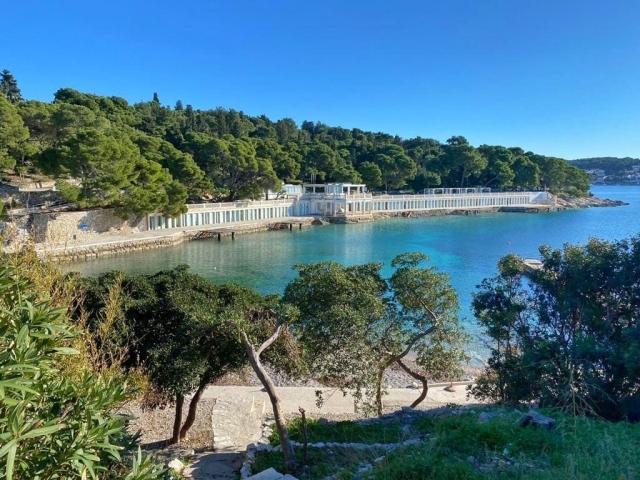 Sunny bay in Hvar