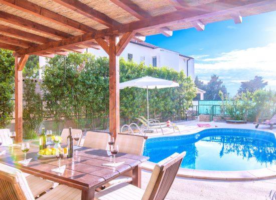Private pool in front of Villa Mare